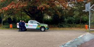 De Roosendaalse Parkrangers houden toezicht in het Emile van Loon Park en stadspark Vrouwenhof
