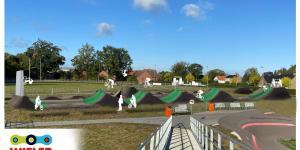 Deze week is gestart met de aanleg van een Dirt Jump baan bij de WielerExperience in Roosendaal
