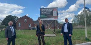 Staatssecretaris Stientje van Veldhoven en wethouders Cees Lok en Patrick van der Velden