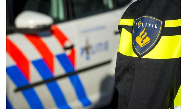 politie met politiewagen